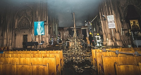 Александр Ткаченко рассказал о работах в костеле Святого Николая в Киеве: Находиться внутри опасно для здоровья