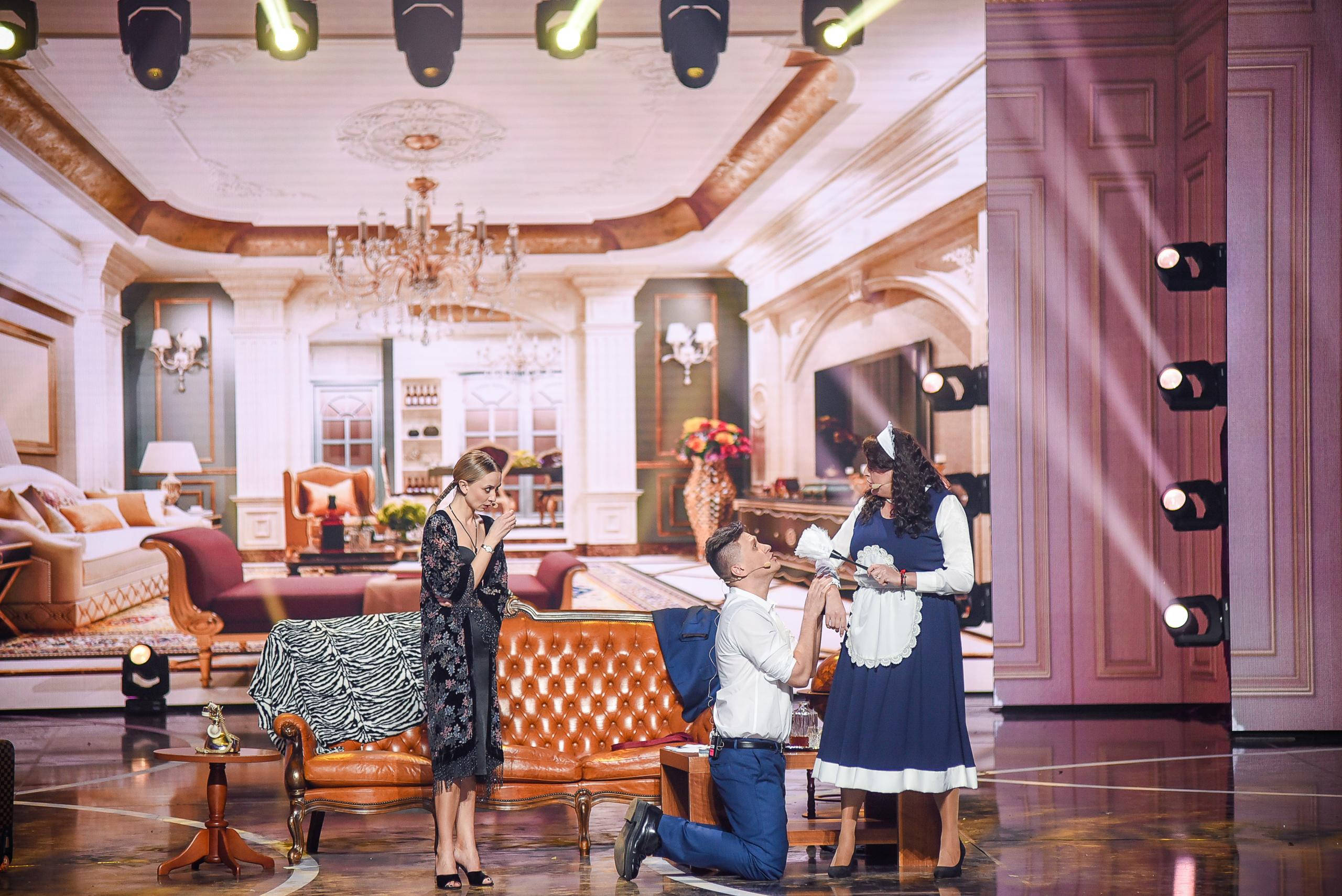 На сцене «Женского Квартала» с Ириной Сопонару и Валентином Михиенко. Фото: «Квартал 95»