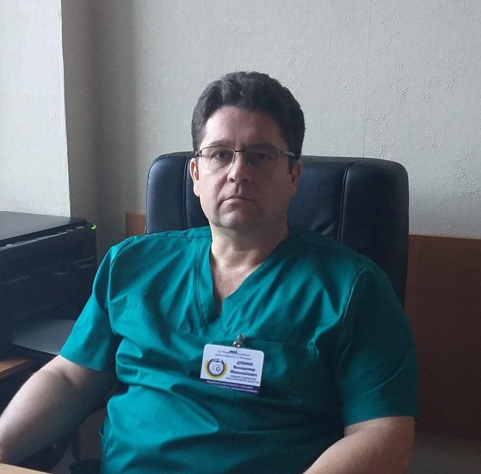 Врач-анестезиолог Владимир Дубина. Фото: Фейсбук врача